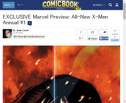 オールニュー・X-MEN アニュアル#1のプレビュー画像が公開!