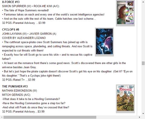 殺人宇宙海賊から逃げられるか!?サイクロプス #8のプレビュー!