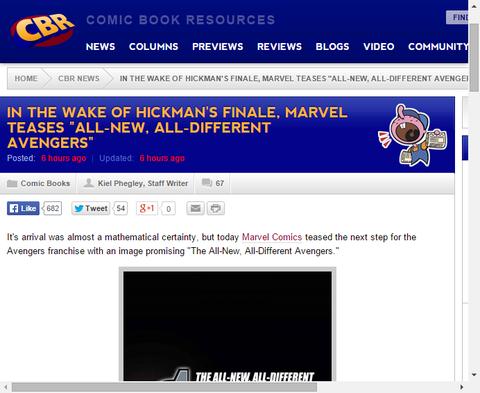5月にコミックショップにやってくる「すべてが新しい。すべてが異なるアベンジャーズ」のティザー画像が公開!