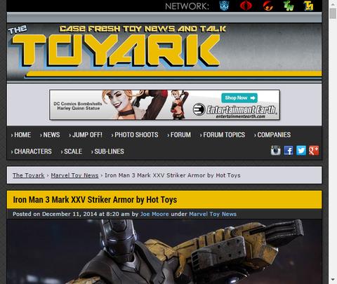 ホットトイズよりアイアンマン3のマークXXV ストライク・アーマーの画像が公開!