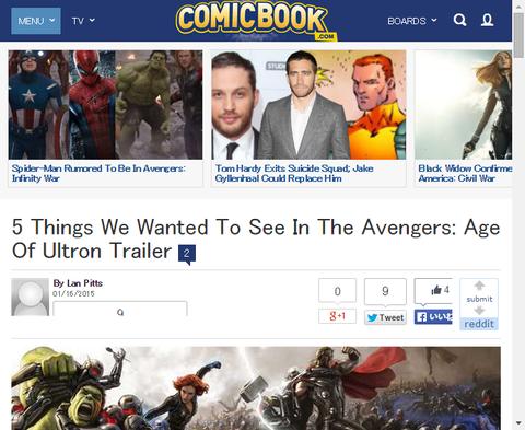 我々が映画「アベンジャーズ:エイジ・オブ・ウルトロン」のトレイラーで見たかった5つのこと!