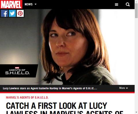 ルーシー・ロウレスがエージェント・オブ・S.H.I.E.L.D.のシーズン2に登場!