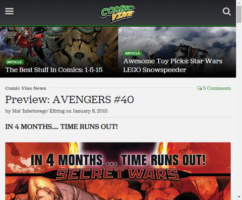 時間切れまで後4ヶ月・・・アベンジャーズ #40のプレビュー画像が更新!