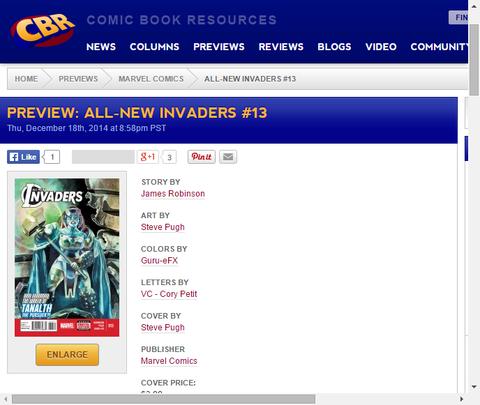 クリーとスピードスターの衝突!オールニュー・インベーダーズ #13のプレビュー画像が更新!