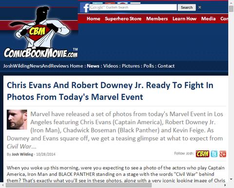 マーベル・スタジオ・イベントでの写真がアップロード!クリス・エヴァンスとロバート・ダウニー・Jr.は戦う準備はできている!
