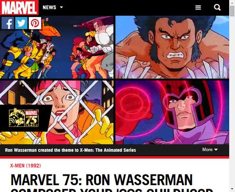 マーベル75:ロン・ワッサーマンによる90年代のX-MENアニメについてのインタビュー!