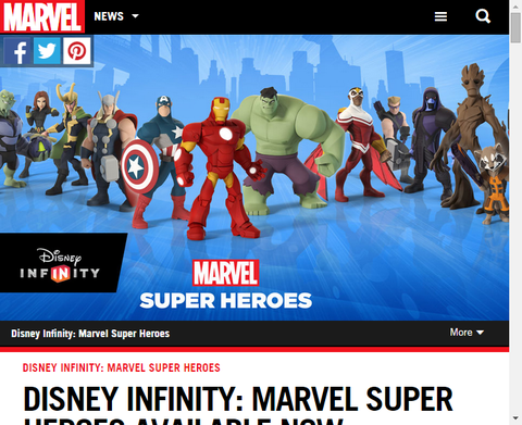 今利用できるディズニー・インフィニティ:マーベル・スーパーヒーロー!