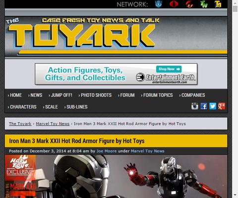 ホットトイズより発売されるアイアンマン3からマークXXII「ホットロッド」の詳細画像が公開!