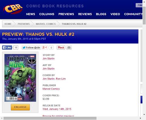 アニヒラスのハルクを利用した陰謀も!サノス VS ハルク #2のプレビュー画像が更新!