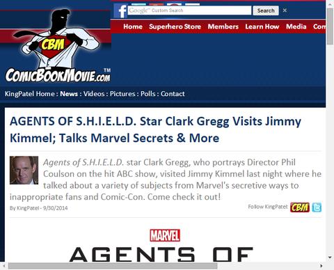 「エージェント・オブ・シールド」のスターのクラーク・グレッグがジミー・キンメル・ライブに出演しマーベルの秘密等を話す!