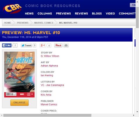 カマラはヒーローと団結する!ミス・マーベル #10のプレビュー画像が更新!