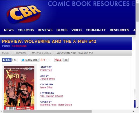 逆転したクエンティンは何を望む!?ウルヴァリン・アンド・ジ・X-MEN #12のプレビュー!
