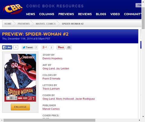 ジェシカは諜報任務へ!スパイダーウーマン #2のプレビュー画像が更新!