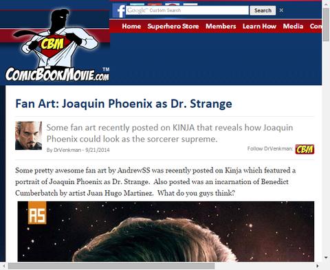 ホアキン・フェニックスが扮するドクター・ストレンジの素晴らしいファンアート