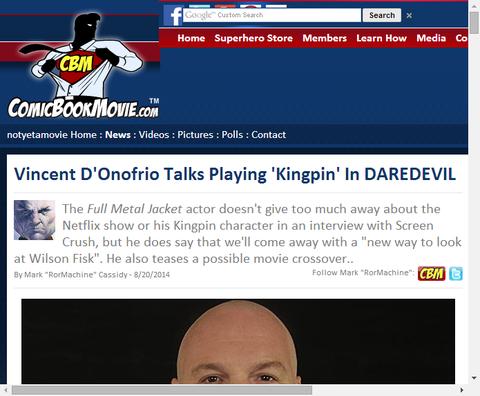 ヴィンセント・ドノフリオが演じるキングピンについて話す!