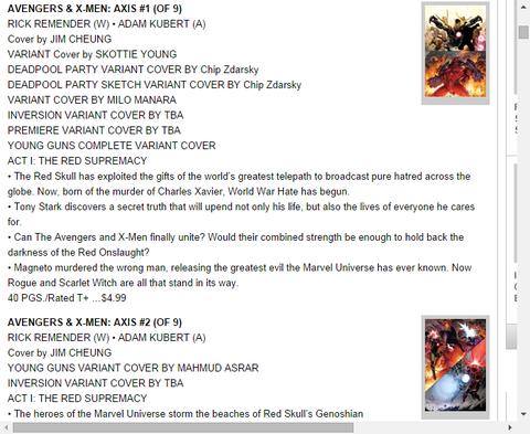 アベンジャーズ&X-MEN:アクシス #3のプレビュー!
