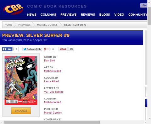 不可解な惑星においての窮地!シルバー・サーファー #8のプレビュー画像が更新!