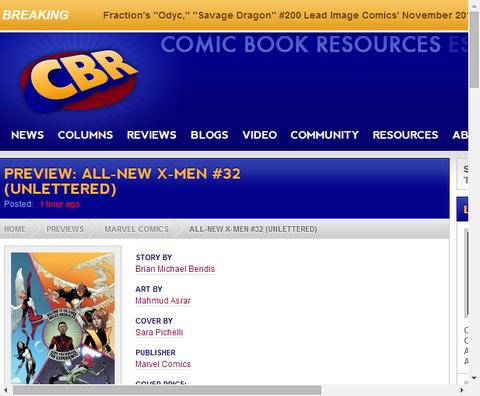 オールニュー・X-MEN #32のプレビュー!