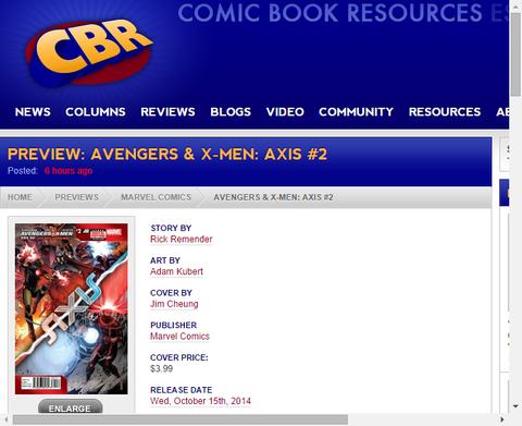 アベンジャーズ&X-MEN:アクシス #2の新たなプレビュー画像!