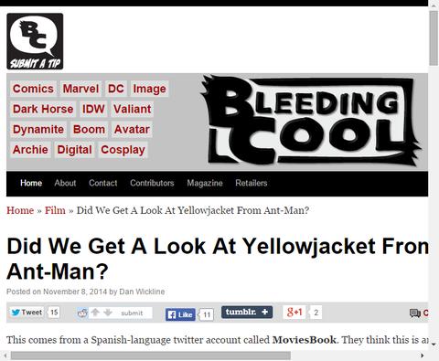 これが映画「アントマン」のイエロージャケットなのか!?
