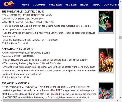 ギャラクタスによる月での決戦!ザ・アンビータブル・スクィレルガール #3のプレビュー!
