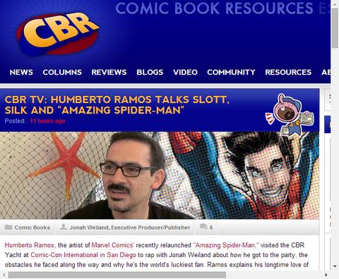 ウンベルト・ラモスが復活したアメイジング・スパイダーマンを語る!