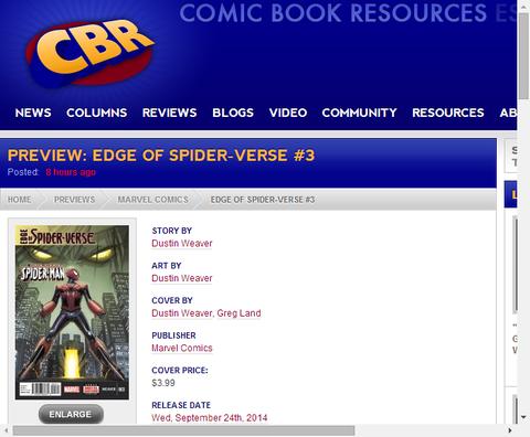エッジ・オブ・スパイダーバース #3のプレビュー!