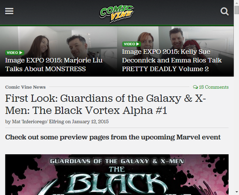 ガーディアンズ・オブ・ザ・ギャラクシー & X-MEN:ザ・ブラック・ヴォルテックス・アルファ #1のプレビュー画像が更新!