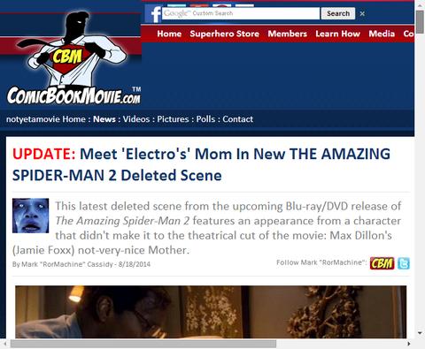 アメイジング・スパイダーマン2での削除された、エレクトロが母に会うシーンが公開!