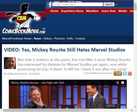 ミッキー・ロークはまだマーベル・スタジオを憎んでる!?