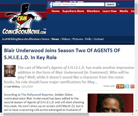 ブレア・アンダーウッドがドラマ「エージェント・オブ・シールド」シーズン2に加わり重要な役を演じる!