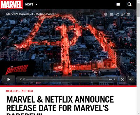 マーベルとネットフリックスがついにドラマ「デアデビル」の公開日を発表!モーションポスター映像も公開!