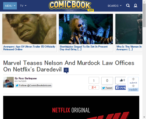 マーベルはドラマ「デアデビル」に登場するネルソン & マードック法律事務所の看板を公開!