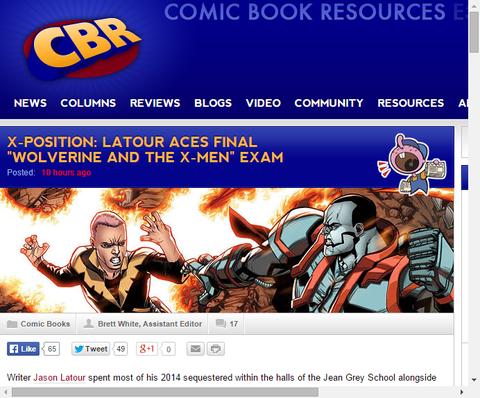 X-ポジション:「ウルヴァリン・アンド・ジ・X-MEN」のライターであるジェイソン・ラトゥールのインタビュー!