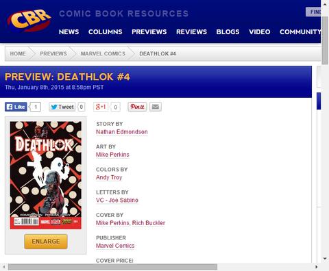 デスロック・プログラムの秘密とは!?デスロック #4のプレビュー画像が更新!