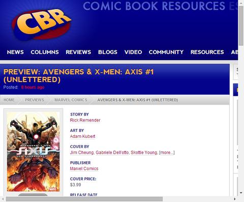 アベンジャーズ&X-MEN:アクシスのプレビュー!
