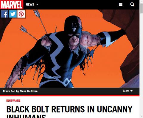 ブラック・ボルトはアンキャニー・インヒューマンズで帰ってくる!チャールズ・スーレによるインタビュー!