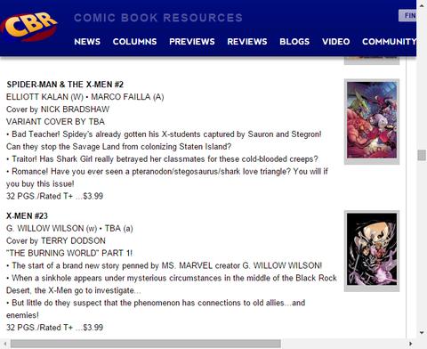 懐かしの味方と敵とは!?X-MEN #23のプレビュー!