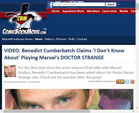 ベネディクト・カンバーバッチは映画「ドクター・ストレンジ」を演じることについて「私は知らない」と話す!