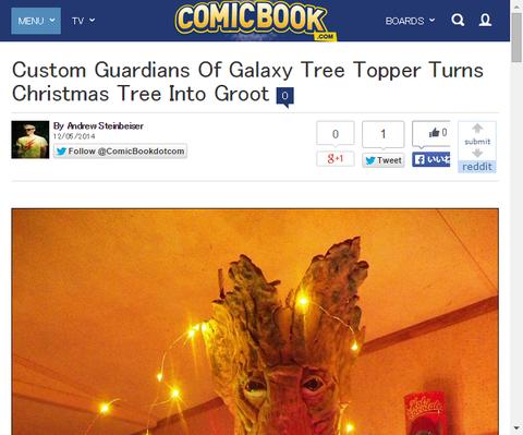 今年のツリーはこれで決まり!?グルートクリスマスツリーはいかがですか!?
