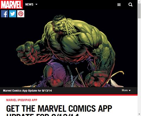 MARVEL公式アプリが今週分を更新!