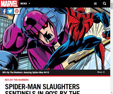 スパイダーマンはベン・ライリーとともに数で90年代を振り返る!