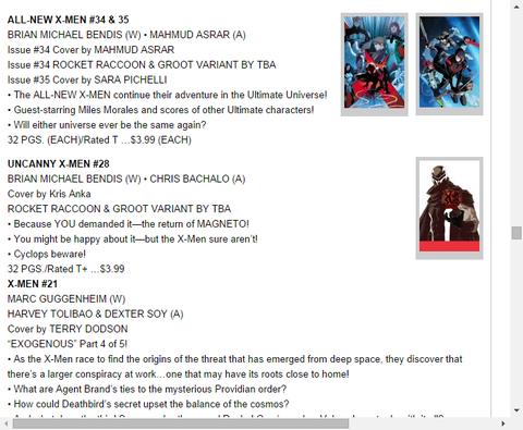 オールニュー・X-MEN #34&35のプレビュー!