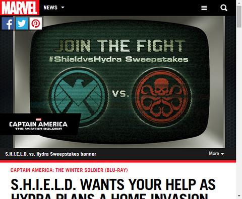 S.H.I.E.L.D.からのお願い!ヒドラが家に侵入しようとしている!