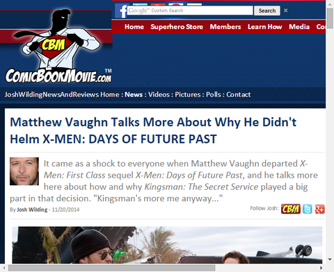 マシュー・ヴォーンはなぜX-MEN:デイズ・オブ・フューチャー・パストで監督をしなかったか話す!