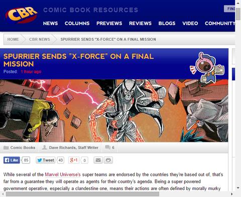 2つ目のアークの終盤に差し掛かる「X-FORCE」に関するサイモン・スプリアーのインタビュー!