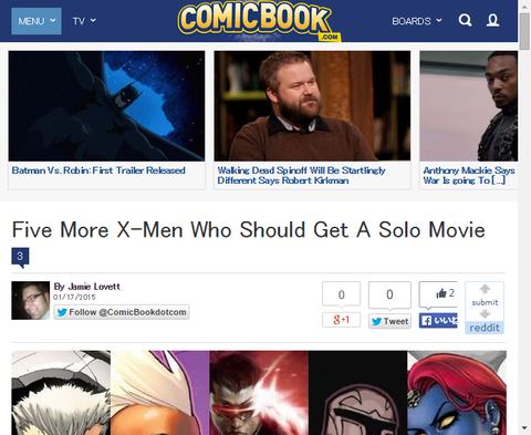 ソロ映画を得なければならない5人のX-MEN!