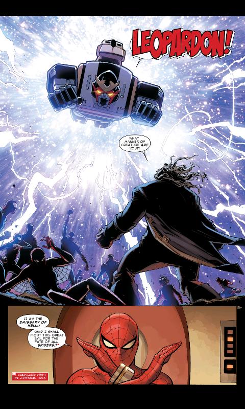 ついにスパイダーバース本編にあの「地獄からの使者」と「レオパルドン」が堂々登場!でも瞬殺されるwww