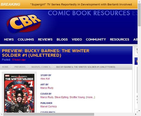 バッキー・バーンズ:ウィンター・ソルジャー #1のプレビュー!