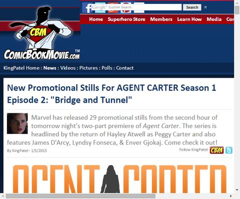 ドラマ「エージェント・カーター」 エピソード2の新たなプロモーション画像が公開!